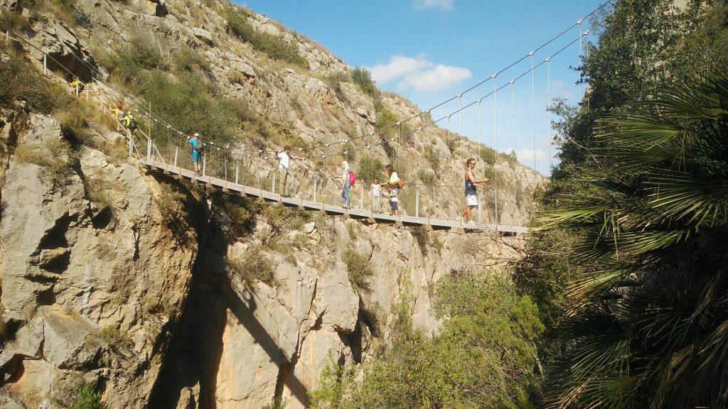 Ruta de los puentes colgantes chulilla