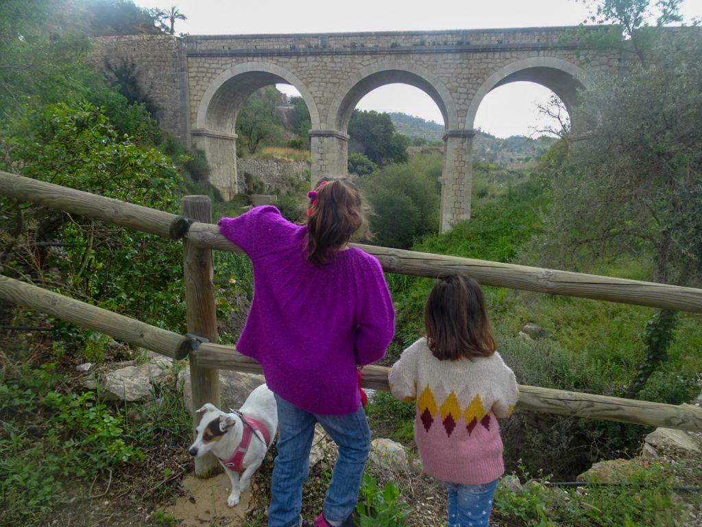 Ruta del agua Sella con niños
