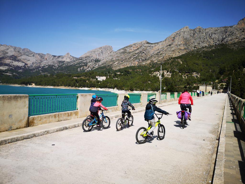 rutas en bicicleta con niños alicante